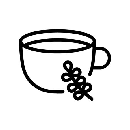 thyme aromatic drink cup icon vector. thyme aromatic drink cup sign. isolated contour symbol illustration 向量圖像