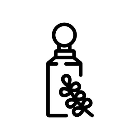 thyme spice bottle icon vector. thyme spice bottle sign. isolated contour symbol illustration