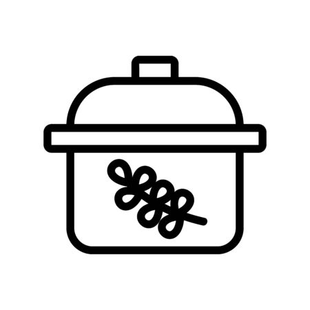 thyme spice for boil meal icon vector. thyme spice for boil meal sign. isolated contour symbol illustration 向量圖像