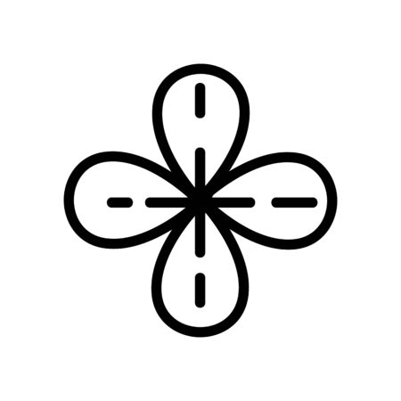 thyme flower bud icon vector. thyme flower bud sign. isolated contour symbol illustration