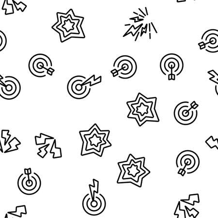 Pain Medical Vector Seamless Pattern Thin Line Illustration