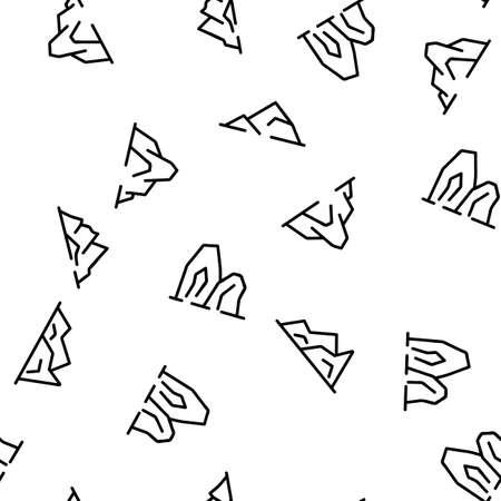 Ridge Different Form Vector Seamless Pattern Thin Line Illustration Ilustração Vetorial