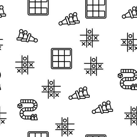 Riddle Play Equipment Vector Seamless Pattern Thin Line Illustration Ilustração