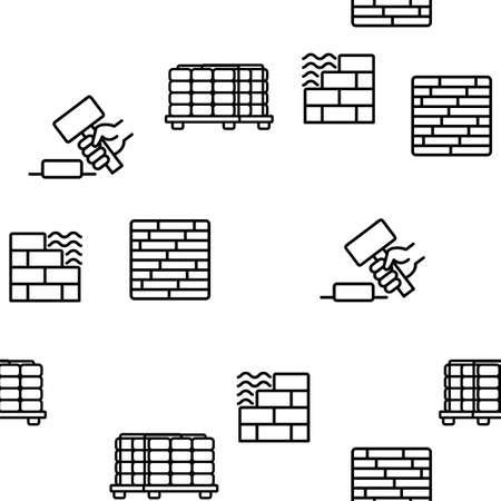 Tile Floor Material Vector Seamless Pattern Thin Line Illustration