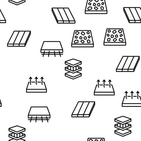 Floor And Material Vector Seamless Pattern Thin Line Illustration Vector Illustration