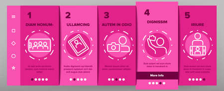 Selfie Photo Camera Onboarding Mobile App Page Screen Vector. Selfie Stick Tool And Smartphone Digital Device For Make Photography Card Illustrations