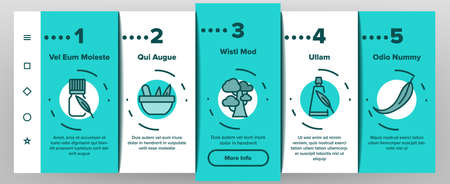 Eucalyptus Herbal Leaf Onboarding Mobile App Page Screen Vector. Eucalyptus Candy And Bubble Gum, Pills And Drink, Liquid And Cream Package Illustrations