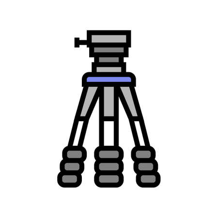 tripod for photo camera color icon vector. tripod for photo camera sign. isolated symbol illustration