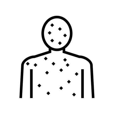 rash full body line icon vector. rash full body sign. isolated contour symbol black illustration