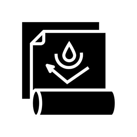 waterproof layer glyph icon vector. waterproof layer sign. isolated contour symbol black illustration