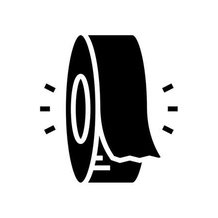 insulation roll glyph icon vector. insulation roll sign. isolated contour symbol black illustration