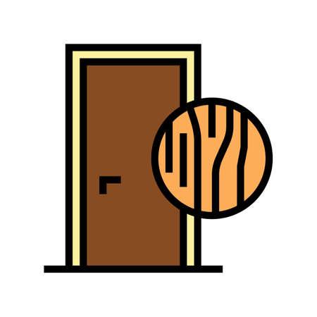 wooden door color icon vector. wooden door sign. isolated symbol illustration 일러스트