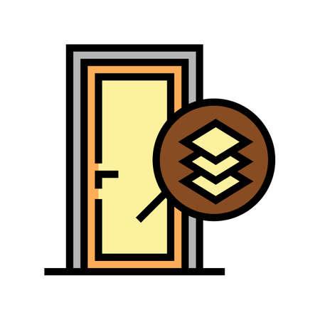 medium density fibreboard material door color icon vector. medium density fibreboard material door sign. isolated symbol illustration