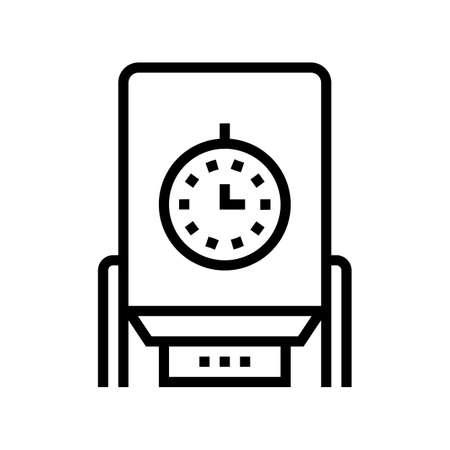 paper chips dryer machine line icon vector. paper chips dryer machine sign. isolated contour symbol black illustration Vecteurs