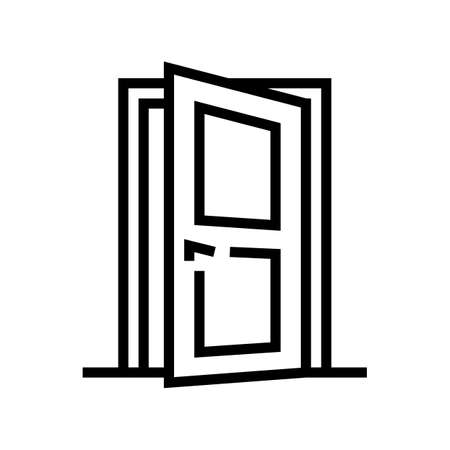 entry door line icon vector. entry door sign. isolated contour symbol black illustration