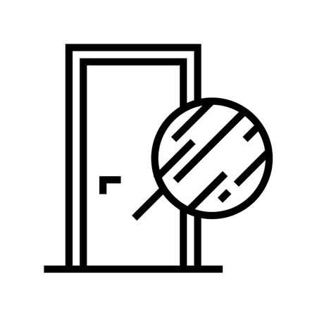 metallic material door line icon vector. metallic material door sign. isolated contour symbol black illustration 일러스트