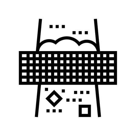 filtration machine line icon vector. filtration machine sign. isolated contour symbol black illustration