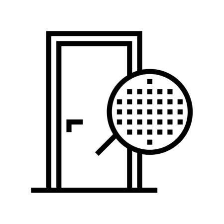 veneer material door line icon vector. veneer material door sign. isolated contour symbol black illustration 일러스트