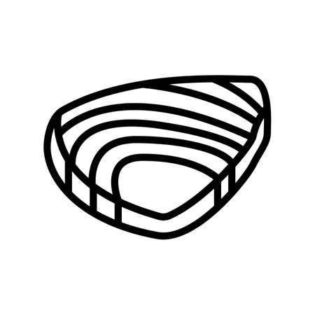 tuna meat fillet line icon vector. tuna meat fillet sign. isolated contour symbol black illustration 向量圖像