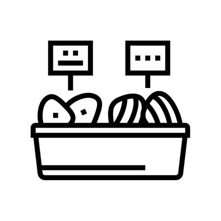 tuna fish meat in container line icon vector. tuna fish meat in container sign. isolated contour symbol black illustration 向量圖像
