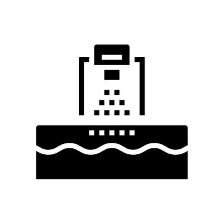 washing machine glyph icon vector. washing machine sign. isolated contour symbol black illustration Ilustrace