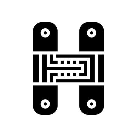 hidden hinges glyph icon vector. hidden hinges sign. isolated contour symbol black illustration
