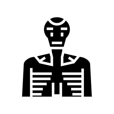 robot machine glyph icon vector. robot machine sign. isolated contour symbol black illustration