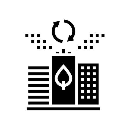 ecology future city glyph icon vector. ecology future city sign. isolated contour symbol black illustration