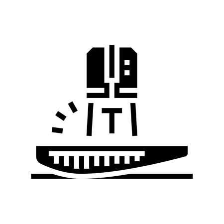 tuna fish cut glyph icon vector. tuna fish cut sign. isolated contour symbol black illustration