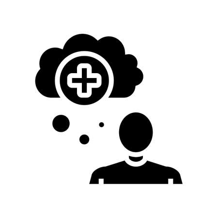 mania psychological problems glyph icon vector. mania psychological problems sign. isolated contour symbol black illustration