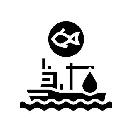 fishing ship glyph icon vector. fishing ship sign. isolated contour symbol black illustration