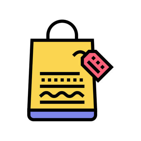 homemade bag color icon vector. homemade bag sign. isolated symbol illustration