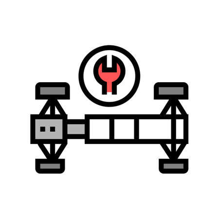 suspencion repair color icon vector. suspencion repair sign. isolated symbol illustration
