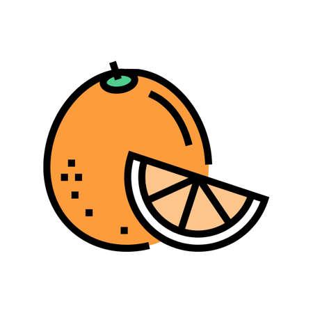 orange aromatherapy color icon vector. orange aromatherapy sign. isolated symbol illustration