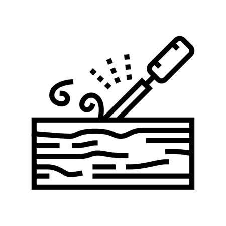 carpentry craft line icon vector. carpentry craft sign. isolated contour symbol black illustration