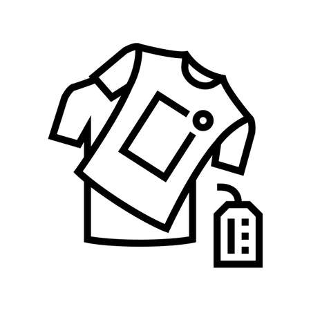 handmade clothes line icon vector. handmade clothes sign. isolated contour symbol black illustration