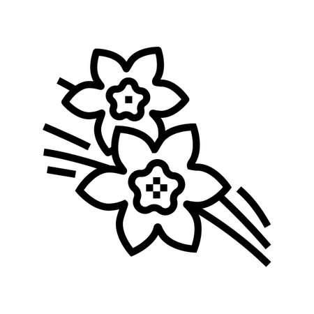 vanilla aromatherapy line icon vector. vanilla aromatherapy sign. isolated contour symbol black illustration