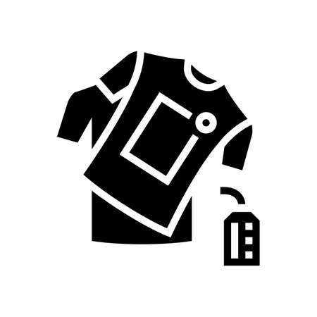 handmade clothes glyph icon vector. handmade clothes sign. isolated contour symbol black illustration  イラスト・ベクター素材