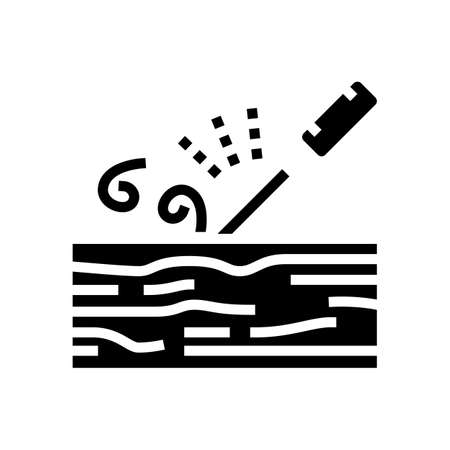 carpentry craft glyph icon vector. carpentry craft sign. isolated contour symbol black illustration  イラスト・ベクター素材