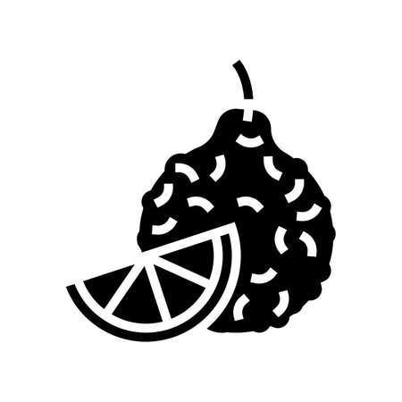 bergamot aromatherapy glyph icon vector. bergamot aromatherapy sign. isolated contour symbol black illustration