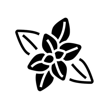 peppermint aromatherapy glyph icon vector. peppermint aromatherapy sign. isolated contour symbol black illustration Vectores