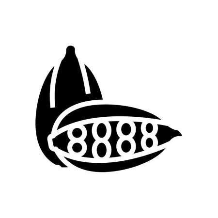 cardamom aromatherapy glyph icon vector. cardamom aromatherapy sign. isolated contour symbol black illustration Ilustracje wektorowe