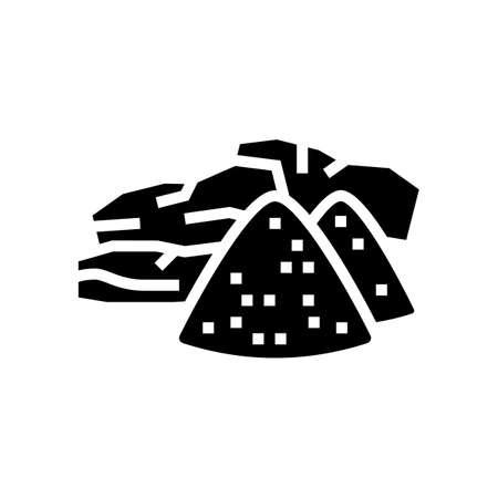 sandalwood aromatherapy glyph icon vector. sandalwood aromatherapy sign. isolated contour symbol black illustration
