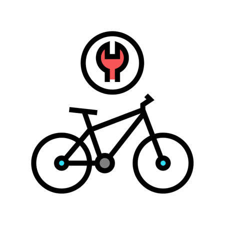 complex bike repair color icon vector. complex bike repair sign. isolated symbol illustration