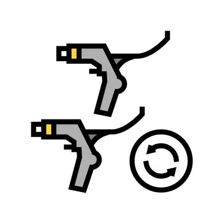 brake levers replacement color icon vector. brake levers replacement sign. isolated symbol illustration