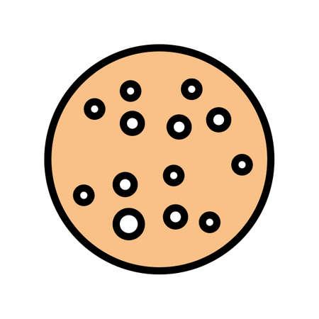 chronic blistering skin disease color icon vector. chronic blistering skin disease sign. isolated symbol illustration