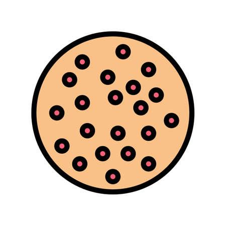 lichen planus skin disease color icon vector. lichen planus skin disease sign. isolated symbol illustration Çizim