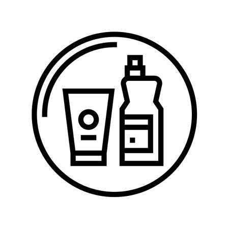 household chemicals department store line icon vector. household chemicals department store sign. isolated contour symbol black illustration Vectores