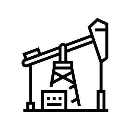 petrol derrick line icon vector. petrol derrick sign. isolated contour symbol black illustration