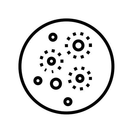 acne skin disease line icon vector. acne skin disease sign. isolated contour symbol black illustration Çizim